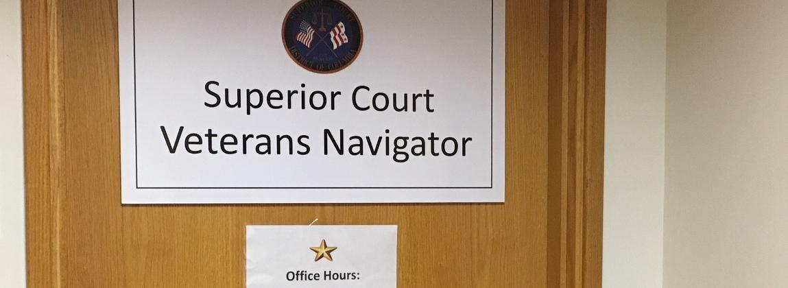 Veterans Navigator Office Sign